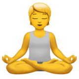 Person in Lotus Position on Apple iOS 13.3