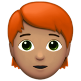 Person: Medium Skin Tone, Red Hair on Apple iOS 13.3