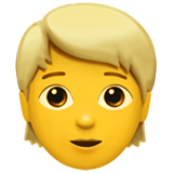 Person: Blond Hair on Apple iOS 13.3
