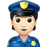 Police Officer: Light Skin Tone on Apple iOS 13.3