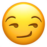 Smirking Face Emoji on Apple iOS 13.3