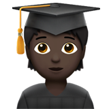Student: Dark Skin Tone on Apple iOS 13.3