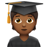 Student: Medium-Dark Skin Tone on Apple iOS 13.3
