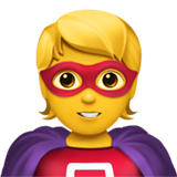 Superhero on Apple iOS 13.3