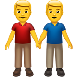 Men Holding Hands on Apple iOS 13.3