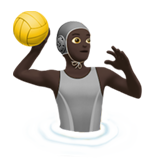 Person Playing Water Polo: Dark Skin Tone on Apple iOS 13.3