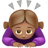 Woman Bowing: Medium Skin Tone on Apple iOS 13.3