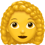 Woman: Curly Hair on Apple iOS 13.3