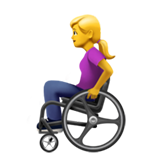 Woman in Manual Wheelchair on Apple iOS 13.3