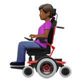 Woman in Motorized Wheelchair: Medium-Dark Skin Tone on Apple iOS 13.3