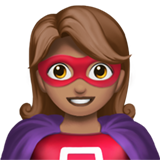 Woman Superhero: Medium Skin Tone on Apple iOS 13.3