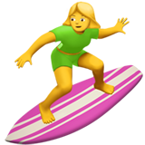 Woman Surfing on Apple iOS 13.3