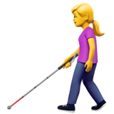 Woman with White Cane on Apple iOS 13.3