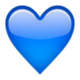 Blue Heart on Apple iOS 9.0