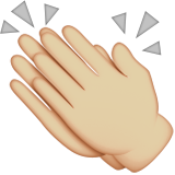 Clapping Hands: Medium-Light Skin Tone on Apple iOS 9.0