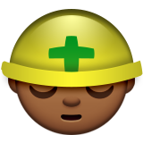 Construction Worker: Medium-Dark Skin Tone on Apple iOS 9.0