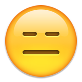 Expressionless Face on Apple iOS 9.0