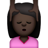 Person Getting Massage: Dark Skin Tone on Apple iOS 9.0