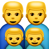 Family: Man, Man, Boy, Boy on Apple iOS 9.0