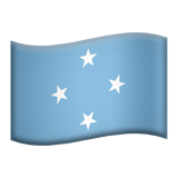Flag: Micronesia on Apple iOS 9.0