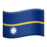 Flag: Nauru on Apple iOS 9.0