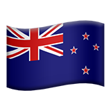Flag: New Zealand on Apple iOS 9.0