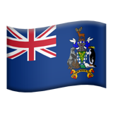 Flag: South Georgia & South Sandwich Islands on Apple iOS 9.0