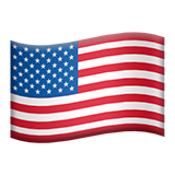 Flag: United States on Apple iOS 9.0