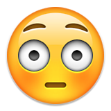 Flushed Face on Apple iOS 9.0