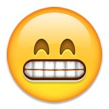 Beaming Face with Smiling Eyes on Apple iOS 9.0