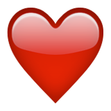 Red Heart on Apple iOS 9.0