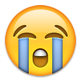 Loudly Crying Face on Apple iOS 9.0