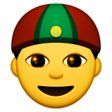 Person With Skullcap on Apple iOS 9.0