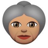 Old Woman: Medium Skin Tone on Apple iOS 9.0