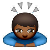 Person Bowing: Medium-Dark Skin Tone on Apple iOS 9.0