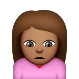 Person Frowning: Medium Skin Tone on Apple iOS 9.0