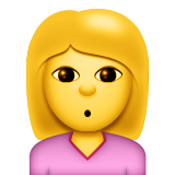 Person Pouting on Apple iOS 9.0