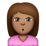 Person Pouting: Medium Skin Tone on Apple iOS 9.0