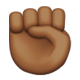 Raised Fist: Medium-Dark Skin Tone on Apple iOS 9.0