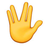 Vulcan Salute on Apple iOS 9.0