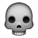 Skull on Apple iOS 9.0