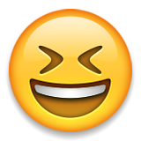 Grinning Squinting Face on Apple iOS 9.0