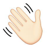 Image result for waving emoji apple
