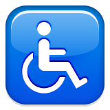 Wheelchair Symbol on Apple iOS 9.0