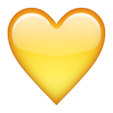 Yellow Heart on Apple iOS 9.0