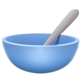 Bowl with Spoon on Apple iOS 14.2