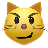 Cat with Wry Smile on Apple iOS 14.2