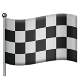 Chequered Flag on Apple iOS 14.2