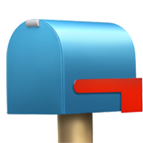 Closed Mailbox with Lowered Flag on Apple iOS 14.2