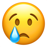 Crying Face on Apple iOS 14.2